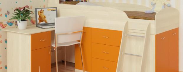 Кровать в детскую для школьника