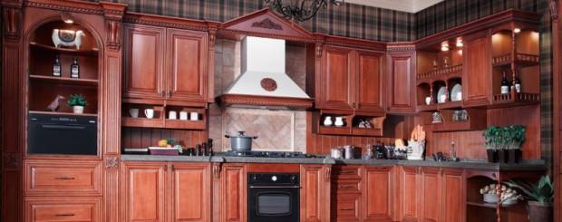 Кухня из массива дерева № 001