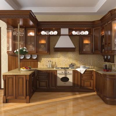 Кухня из массива дерева № 003