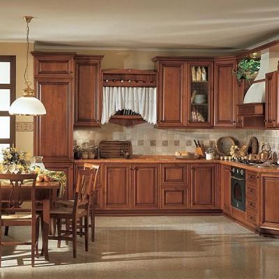 Кухня из массива дерева № 004