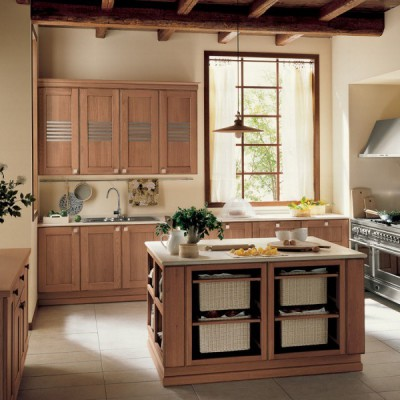 Кухня из массива дерева № 006