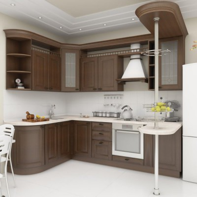 Кухня из массива дерева № 007