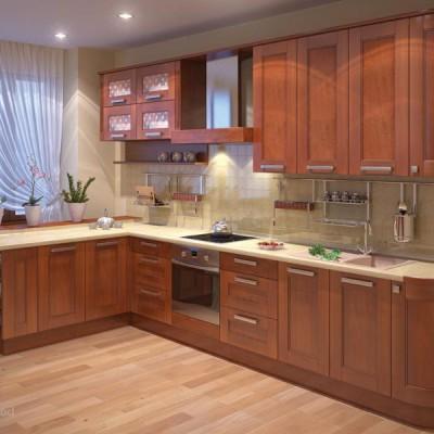 Кухня из массива дерева № 008