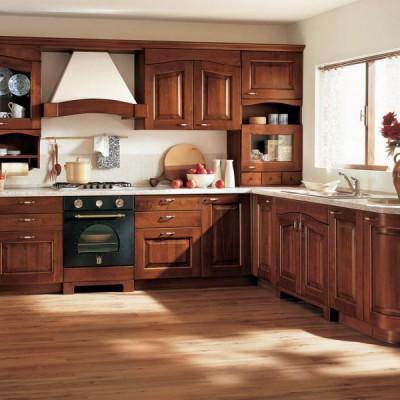 Кухня из массива дерева № 014