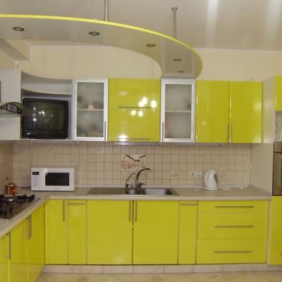 Кухня с фасадами из пластика (постформинг) № 001