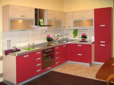 Кухня с фасадами из пластика (постформинг) № 002