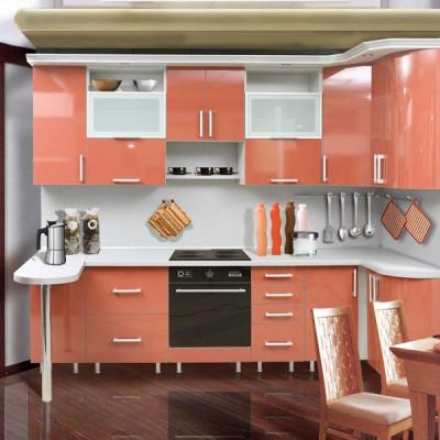 Кухня с фасадами из пластика (постформинг) № 003