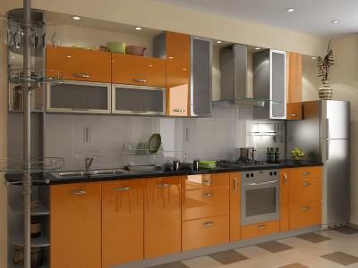 Кухня с фасадами из пластика (постформинг) № 004