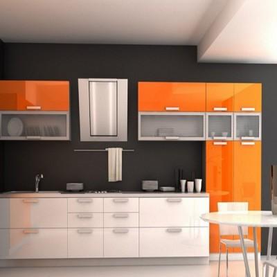Кухня с фасадами из пластика (постформинг) № 005