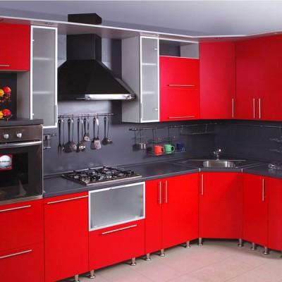 Кухня с фасадами из пластика (постформинг) № 006