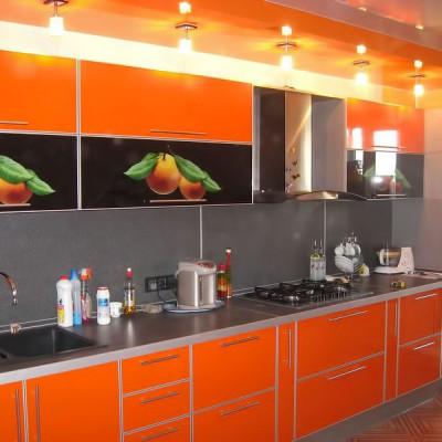 Кухня с фасадами из пластика (постформинг) № 007