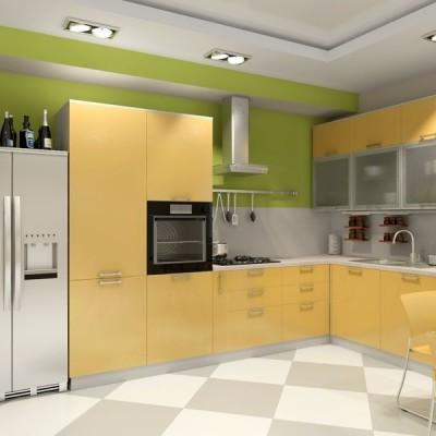 Кухня с фасадами из пластика (постформинг) № 008
