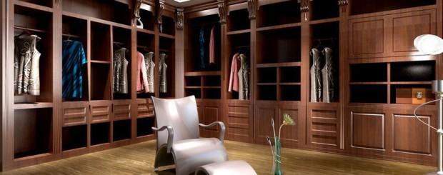 Шкафы для одежды из массива дерева