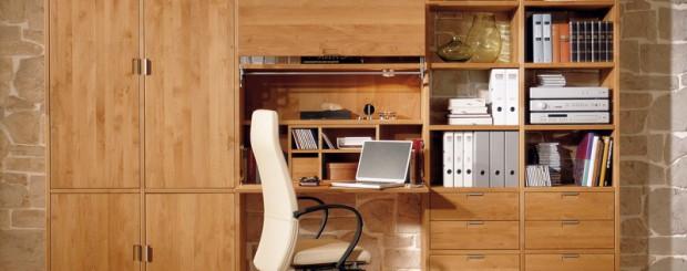 Мебель для рабочей комнаты из массива дерева
