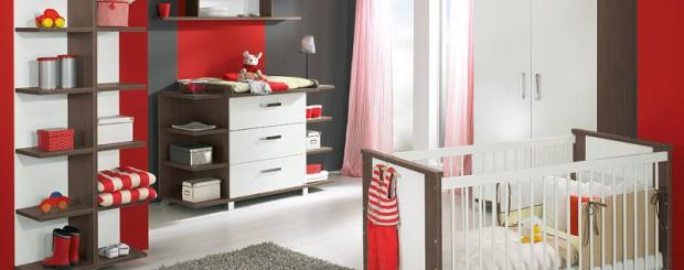 Дизайн интерьера детской комнаты в красно-белых цветах