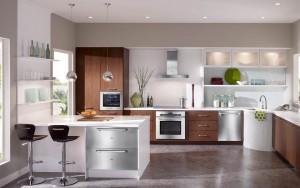 Дизайн кухни в металлическом стиле