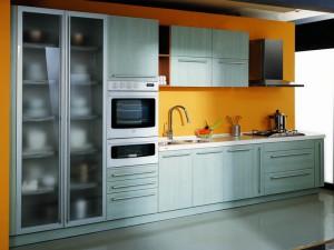 Кухня в металлическом стиле № 002
