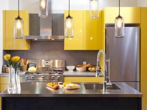 Кухня в металлическом стиле № 003