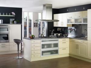 Кухня в металлическом стиле № 004