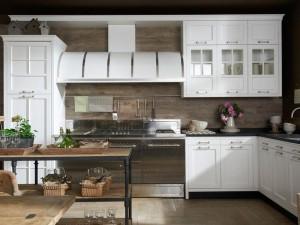 Кухня в металлическом стиле № 005