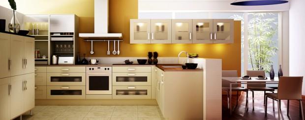 Планировка кухни с выделением зон