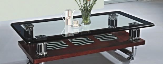 Стеклянный столик для гостиной комнаты