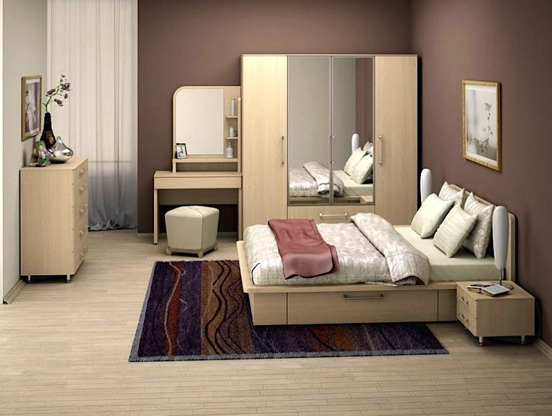Мебель для спальни светлого цвета