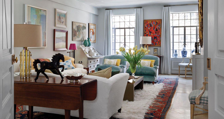 Современная комната в стиле арт деко