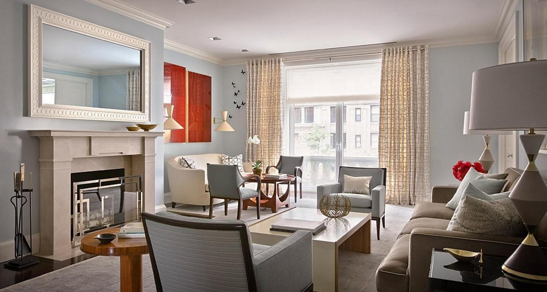 Дизайн гостиной комнаты в стиле арт деко