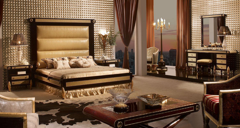 Роскошный дизайн интерьера комнаты в стиле барокко.