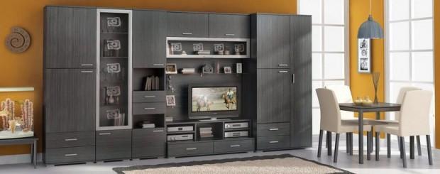 Современная модульная мебель — Стенка в гостиную