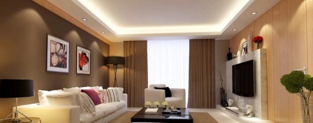 Свет в интерьере гостиной