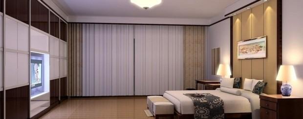 Свет в интерьере спальни