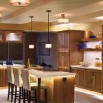 Световой дизайн интерьера кухни