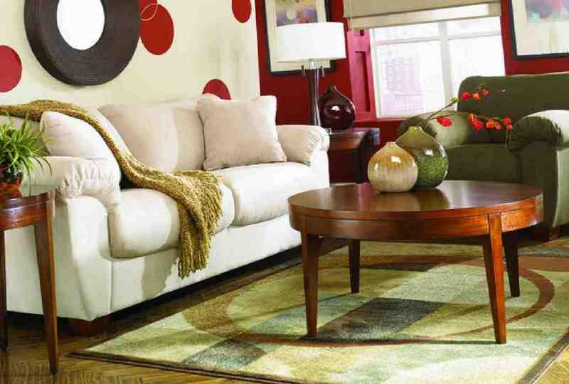 Дизайн гостиной комнаты в ретро стиле