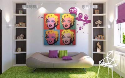 Комната в стиле поп-арт